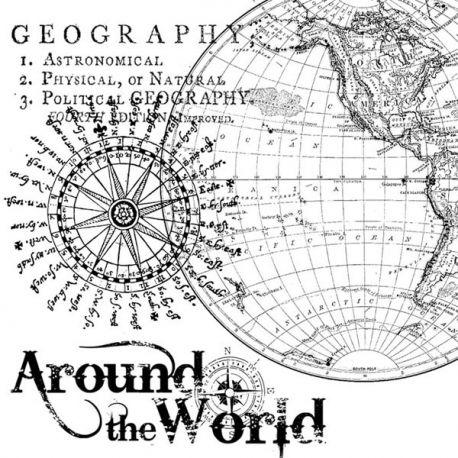 """Sello de alta definición """"geography"""" de Stamperia"""