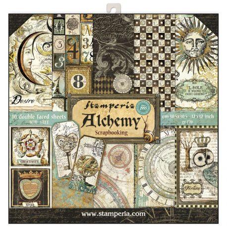 Bloc 10 hojas de papel Scrap Stamperia Alchemy
