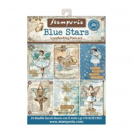 Set de 24 tarjetas Stamperia Blue Stars