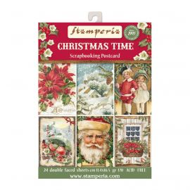 Set de 24 tarjetas Stamperia Christmas Time