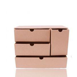 Mueble con cajones de cartón de 19x8,2x22cm
