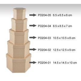 Set de 5 cajas redondas de cartón