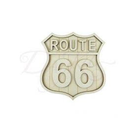 Escudo Ruta 66 en madera
