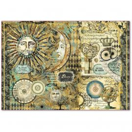 Papel de arroz Stamperia 48x33 Alchemy Sun & Moon