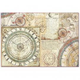 Papel de arroz Stamperia 48x33 Alchemy Astronomy