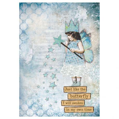 Papel de arroz DinA4 Blue Stard Magic Wand