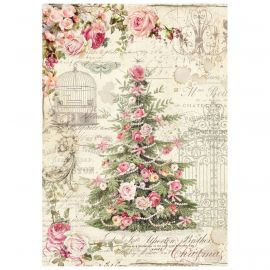Papel de arroz DinA4 Sweet Christmas Tree