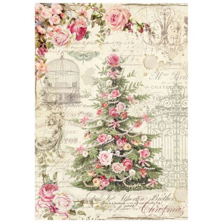 Papel de arroz DinA4 Sweet Christmas Tree