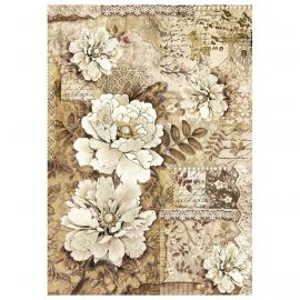 Papel de arroz DinA4 Old laces peonies