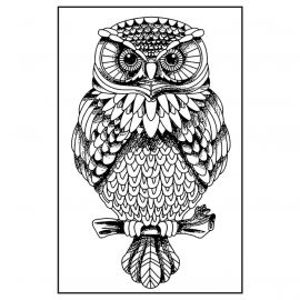 Sello de alta definición Owl Stamperia