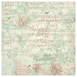 Papel de arroz 50x50 Sweet Christmas Music and Sparrow