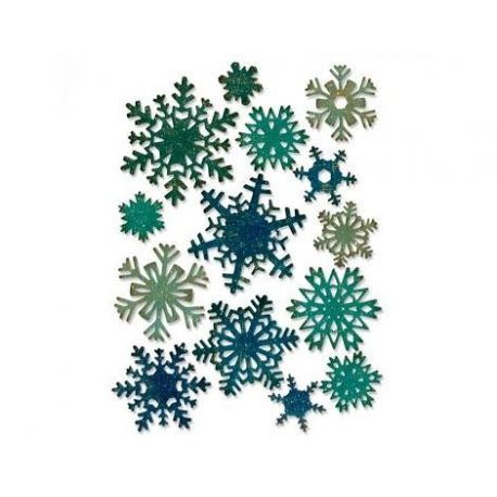 Sizzix set de 14 troqueles Thinlits Snowflakes