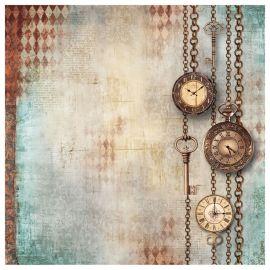 Papel de arroz 50x50 Clockwise relojes y llaves