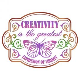 Stencil 20x15 Creativity