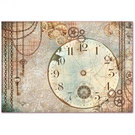 Papel de Arroz de Alta calidad 48x33cm Clockwise clock