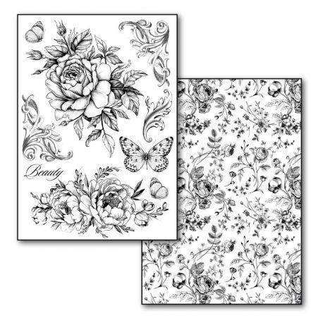 Transfer 21x29.7cm Roses 80gr