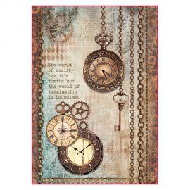 Papel de arroz DinA4 Clockwise clock