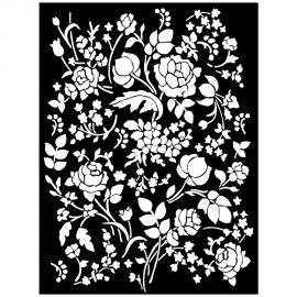 Stencil Stamperia 20x25cm y 0.5mm de espesor Floral Fantasy