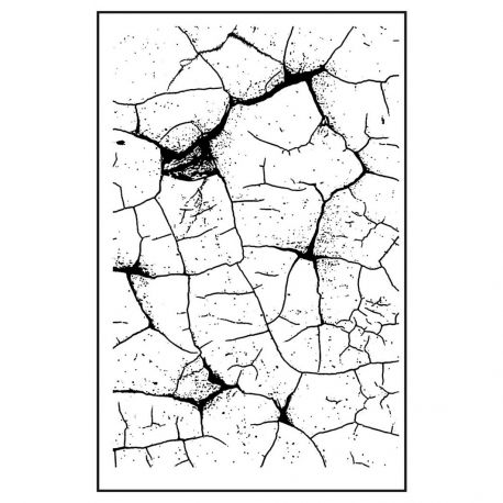 Sello de alta definición Thin Crakle Stamperia