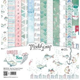 "Moda Scrap - Stack de 12 papeles ""Under the sea"""