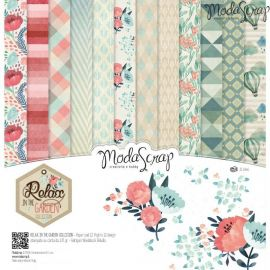 "Moda Scrap - Stack de 12 papeles ""Relax in the garden"""