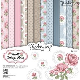 "Moda Scrap - Stack de 12 papeles ""Sweet Vintage Rose"""