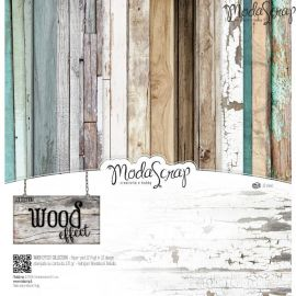 "Moda Scrap - Stack de 12 papeles ""Wood Effect"""
