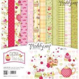 "Moda Scrap - Stack de 12 papeles ""Cucine with love"""