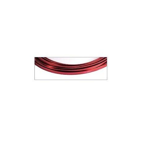 Hilo aluminio plano 5x1mm Magic Wire Rojo neo bisuteria
