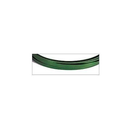 Hilo aluminio plano 5x1mm Magic Wire Verde neo bisuteria