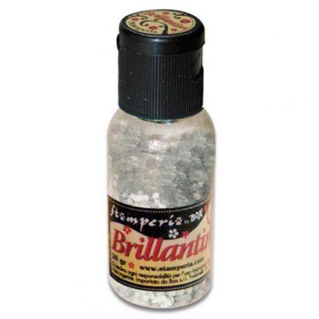 """Purpurina Brillantini Pearl White """"grano grande"""" 20gr"""