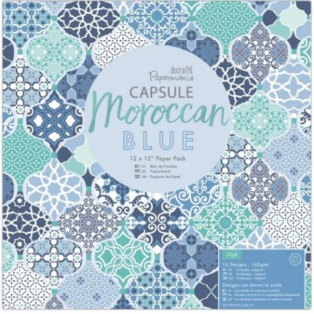 Papel Docrafts Moroccan Blue