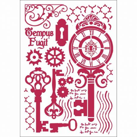 "Stencil 21x29.7cm ""Keys and locks"" de Stamperia"