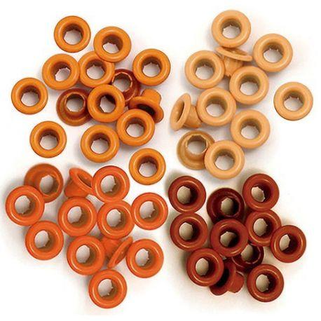 """Ojales pequeños 1/8"""" - 0.31cm Naranja We-R"""
