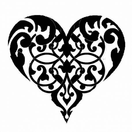 Stencil Stamperia  18x18cm y 0.5mm de espesor heart