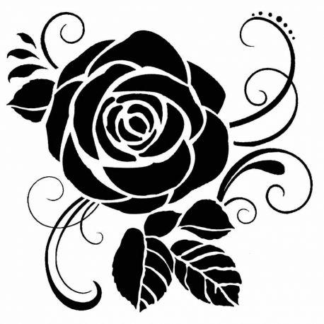 Stencil Stamperia  18x18cm y 0.5mm de espesor rose