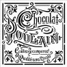 Stencil Stamperia  18x18cm y 0.5mm de espesor chocolate