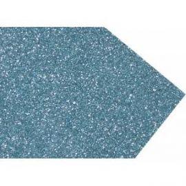Goma eva super glitter 60x40 2mm Azul claro