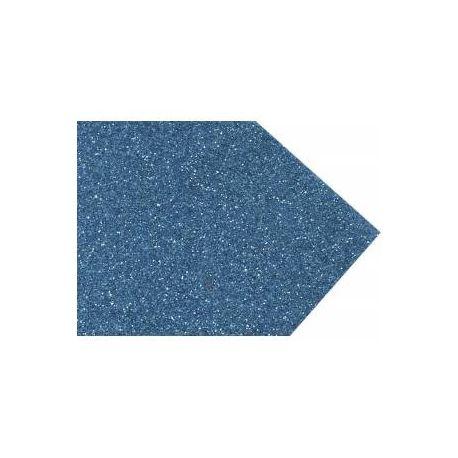 Goma eva super glitter 60x40 2mm Azul Cyan