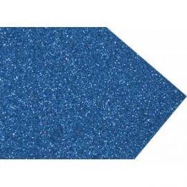 Goma eva super glitter 60x40 2mm Azul Oscuro