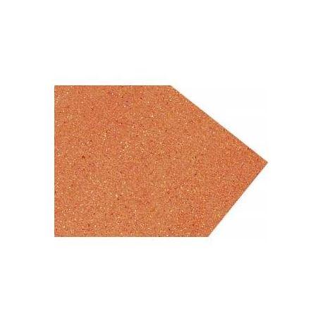 Goma eva super glitter 60x40 2mm Naranja