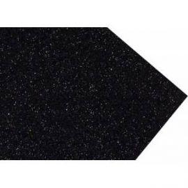 Goma eva super glitter 60x40 2mm Negro