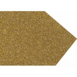 Goma eva super glitter 60x40 2mm Oro