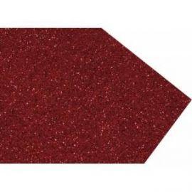 Goma eva super glitter 60x40 2mm Rojo Navidad