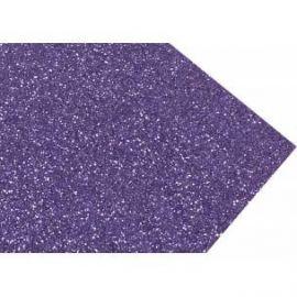 Goma eva super glitter 60x40 2mm Violeta