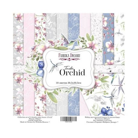 "Set 10 papeles Fabrika Decoru 30x30cm ""Orchid"""
