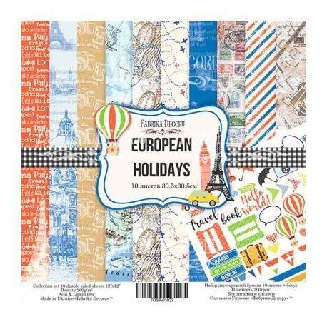 "Set 10 papeles Fabrika Decoru 30x30cm ""European Holidays"""