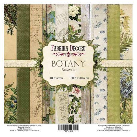"Set 10 papeles Fabrika Decoru 30x30cm ""Botany Summer"""