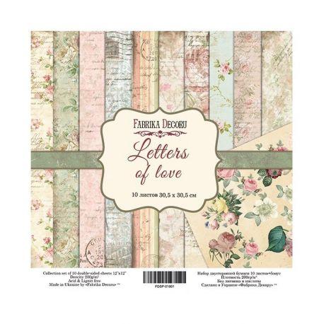 "Set 10 papeles Fabrika Decoru 30x30cm ""Letters of Love"""