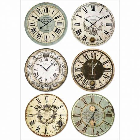 Papel de arroz DinA4  Clocks